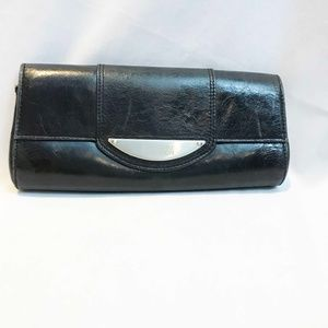 Black Leather Kenneth Cole Clutch